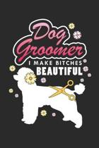 Dog Groomer: Pet Lover ruled Notebook 6x9 Inches - 120 lined pages for notes, drawings, formulas - Organizer writing book planner d