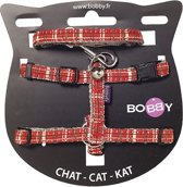 Bobby Kattentuig Kilt Rood - 25-40 CMX10 MM