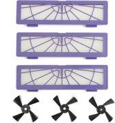 Hepa Filter & Side Brush Borstel/Zijborstel Set Voor Neato BotVac 70e 75 80 85 D75 D85 D3 D3+ D5 Connected