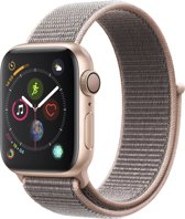 Apple Watch Series 4 - 40 mm - Goud met roze Nylon sportband