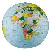 16 Light Blue Political Inflatable Globe