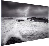 FotoCadeau.nl - Storm op zee  Aluminium 30x20 cm - Foto print op Aluminium (metaal wanddecoratie)