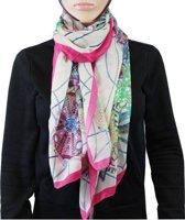 Sjaal 100% Polyester Donkerroze
