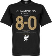 Liverpool CL 8-0 Record T-Shirt - L