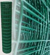 Tuingaas groen 150 cm   rol 25 m   100 x 50 mm geplastificeerd