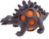 Johntoy Squeezy Dino - Stegosaurus 10 Cm Grijs