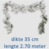 Royal Christmas Chicago Guirlande - 270 cm - Met sneeuw - Diameter 35 centimeter