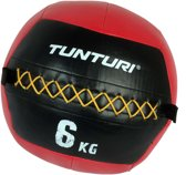 Tunturi Wall Ball - Medicine ball - Crossfit ball - 6kg - Rood