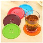 Elegant Design Ronde Siliconen Glas Onderzetters / Tafel  Feest Coasters Onderlegger -  Set 5 Stuks