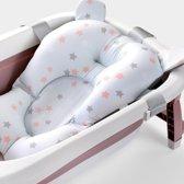 Baby Badkussen - Anti Slip Baby Badkussen - Wit met Sterren - Veilig in bad Baby - Unisex