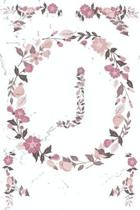 J Monogram Journal: Personalized Initial J, Motivational Heading Prompt - Lined Floral Notebook - Journal - Diary for Reflection