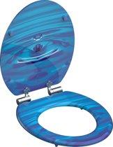 SCHÜTTE WC-Bril 80125 BLUE DROP - MDF-Hout - Soft Close - Verchroomde Scharnieren - Decor - 3-zijdige Print