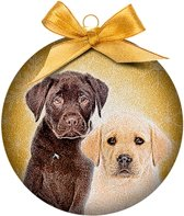 Ornament frosted Retriever puppies