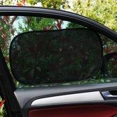 Autoraamscherm met dubbele laag, set van 4. Beschermt tegen zonnestraling en hitte. Past op de meeste voor- en achterruiten.