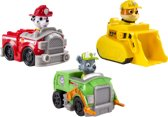 PAW Patrol Rescue Racers Marshall, Rubble & Rocky - Speelset