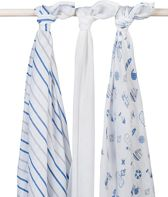 Hydrofiel multidoek 115x115cm Boys at sea (3pack)