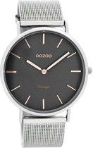 OOZOO Vintage C7725 - Horloge - Staal - Zilverkleurig - 40 mm
