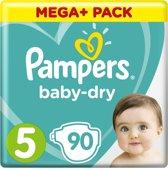 Pampers Baby-Dry - Maat 5 (Junior) 11-23 kg - 90 Stuks - Luiers