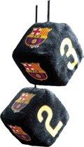 Sumex Spiegelhanger Dobbelstenen Fc Barcelona 6 X 6 X 6 Cm Zwart