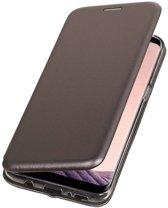 BestCases.nl Grijs Premium Folio leder look booktype smartphone hoesje voor Samsung Galaxy S8