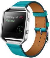 Blauw - Trendy Eco Leer armband bandtje polsband voor Fitbit Blaze