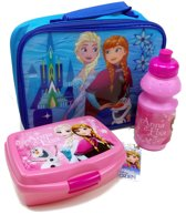 Frozen ANNA en ELSA Lunch Set Broodtrommel Drinkbeker Geïsoleerde Tas School