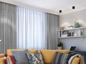 Verduisterend 150 x 260 cm Grijs met plooiband Kant en klaar gordijn geschikt voor rail en roede systemen | LEMONI luxe zonwerende kamerhoge gordijnen