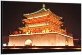 Dibond –Aziatische Tempel– 120x80 Foto op Aluminium (Wanddecoratie van metaal)