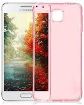 Samsung Galaxy Alpha G850F, 0.35mm Ultra Thin Matte Soft Back Skin case Roze Pink
