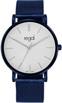 Regal - Regal mesh horloge blauwe band