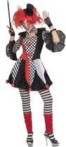 Harlequin Kostuum | Hilarische Harlekijn Hof Van Spanje Vrouw | Maat 40-42 | Carnaval kostuum | Verkleedkleding