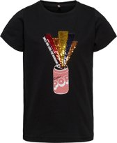 KIDS ONLY Meisjes T-Shirt - Black - Maat 146/152