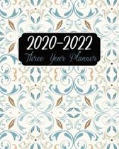 2020-2022 Three Year Planner: Art Cover, 36 Months Appointment Calendar, Agenda Schedule Organizer Logbook, Business Planners and Journal With Holid