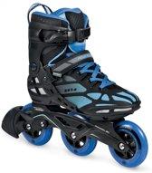 Powerslide Inline Skates Zeta 3-wheel Zwart/blauw Maat 44