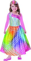 Children s Costume Barbie Rainbow Magic with pink sleeves and tiara 3-5 years