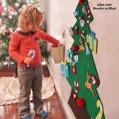 Vilten kerstboom inclusief versiering/klittenband speelgoed - Kerstcadeau - Muurboom