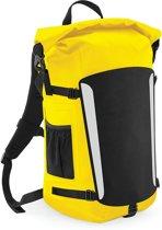 Waterproof backpack rugzak geel