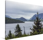Meer in het Nationaal park Gros Morne in Canada Canvas 60x40 cm - Foto print op Canvas schilderij (Wanddecoratie woonkamer / slaapkamer)