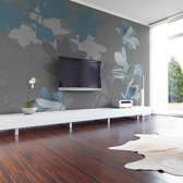 Fotobehang - Blauw magnolia