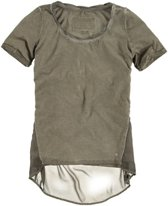 Garcia laagjes shirt faded army Maat - M