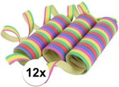 Gekleurde serpentine 12 rollen