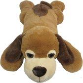Hond Liggend - Knuffel - 100 cm