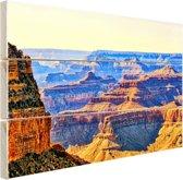 Uitizicht over Grand Canyon Hout 80x60 cm - Foto print op Hout (Wanddecoratie)