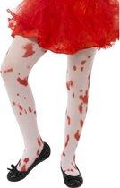 Bebloede panty's voor kinderen Halloween - Verkleedattribuut
