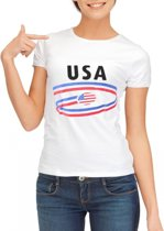USA t-shirt voor dames Xl