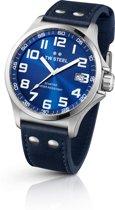 TW Steel Pilot - Horloge - TW 400 - 45 mm - Staal - Blauw
