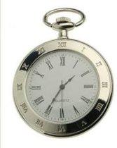 Ketting Horloge zilverkleur met romeinse cijfers