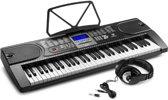 Keyboard met hoofdtelefoon - MAX KB1 keyboard met 61 toetsen en trainingsfunctie + hoofdtelefoon