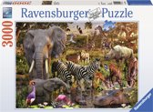 Ravensburger puzzel Afrikaanse dierenwereld - Legpuzzel - 3000 stukjes
