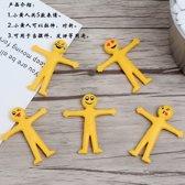 10 stuks uitrekbaar smiley poppetje (5cm), speelgoed kinderen